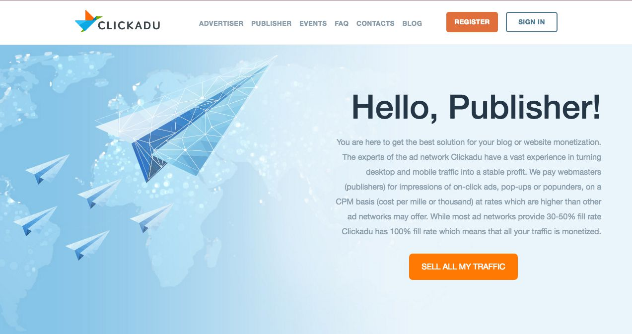 clickadu for publishers