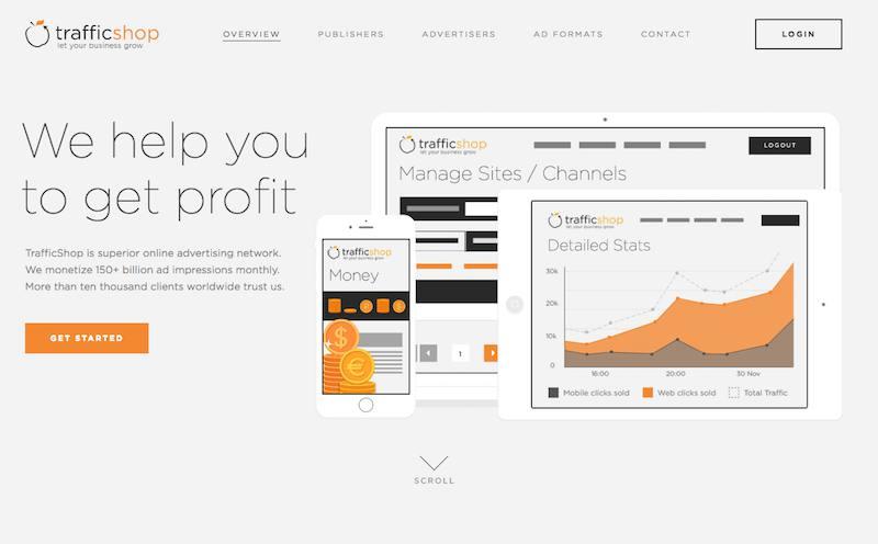 trafficshop homepage