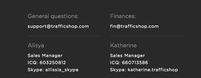 trafficshop contacts