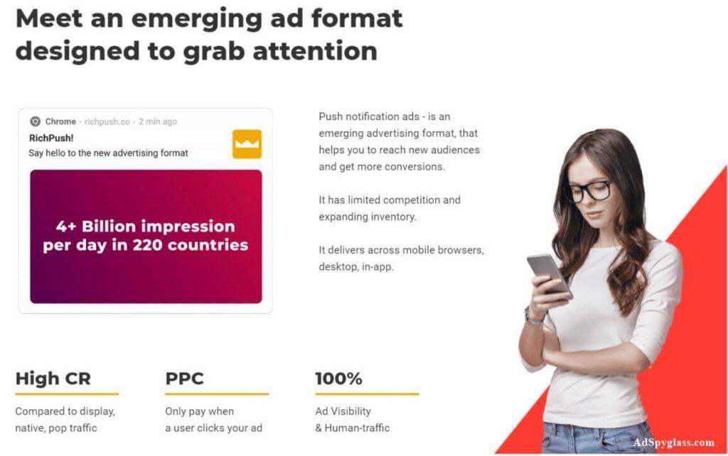 Benefits of RichPush push ads