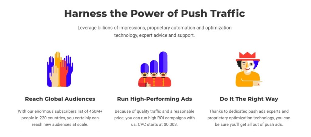 RichPush advantages