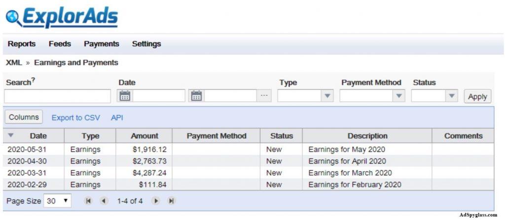 ExplorAds payment proof