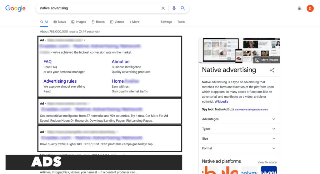 This type of native advertising is usually used by eCommerce services, such as eBay, that allow placing certain goods in the list with other offers. Your website doesn't necessarily have to deal with sales, as you may add anything to the list, depending on your site content. If you run the tube site, then the content you include must fit the style of a list, but these offers are marked by color or words signalizing the ad. They are connected with the advertiser site via link.