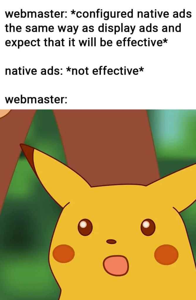 meme about native ads