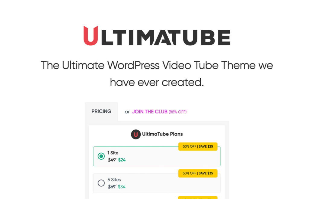 UltimaTube is more than a theme, this is a chance to transform your adult tube website into a great community with amateur content.
