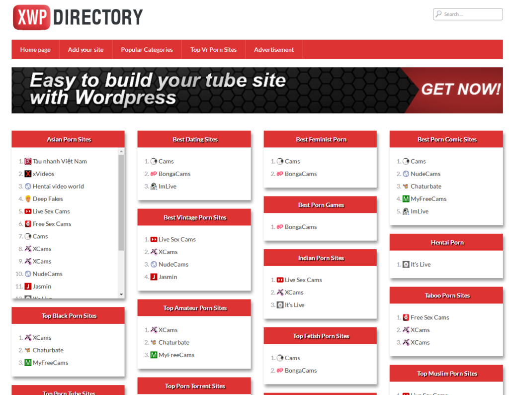 The XWP Directory theme does not look like the others. It is a listing directory adult theme that assists in managing directory websites like ThePornDude.