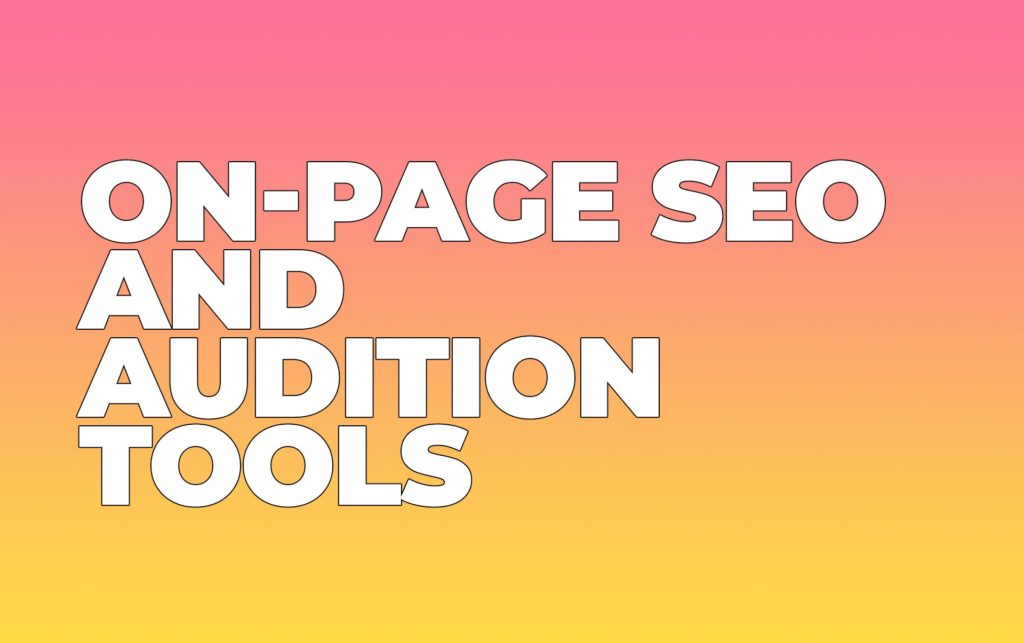 On-page SEO Audition Services and Crawlers