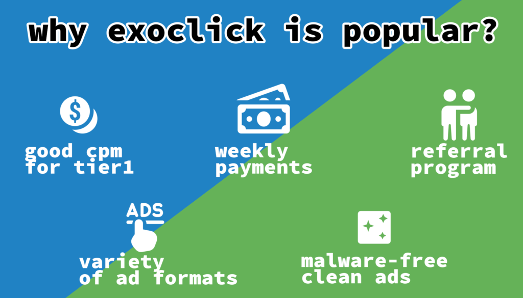 ExoClick is well-liked among many webmasters and in 2019 it broke through the barrier of getting over  7 billion impressions every day. Let's look through the features that make webmasters' consider this ad network.