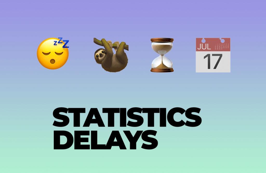 Analytics & Statistics delays